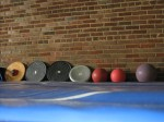 Balance boards and medicine balls